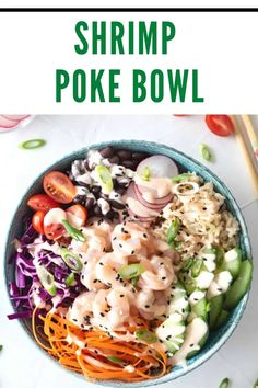 Healthy Summer Recipes, Gluten Free Recipes For Dinner, Fast Recipes, Dinner Recipes, Fish Bowl Recipe, Poki Bowl, Shrimp And Rice, Health Dinner, Mindful Eating