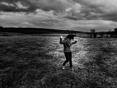 Dancing in the spring fields