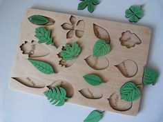 Leaf puzzle montessori toy toddler gift for baby Eco toys | Etsy