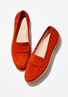 Antonecia Red Suede Loafer   Nine West