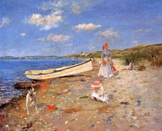 A Sunny Day at Shinnecock Bay (1892) - William Merritt Chase ( 1849 – 1916)