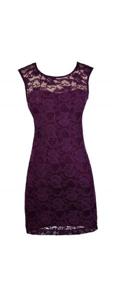 Lily Boutique Bold Floral Lace Fitted Dress in Dark Purple, $38  jwww.lilyboutique.com