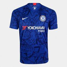 e04f223f66f8b Camisa Chelsea Home 19/20 s/nº Torcedor Nike Masculina - Azul e Branco