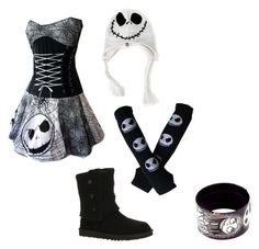 """The Nightmare Before Christmas."" by cmpunksprincess71711 ❤ liked on Polyvore"