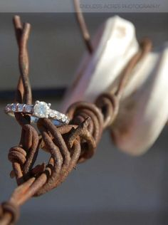 Engagement Ring in a rustic setting. by Kelly Whitman | Endless Acres Photography  http://www.endlessacresphotography.com