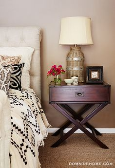 Love this nightstand via Louise Roe's home tour on @Domaine Furnishings