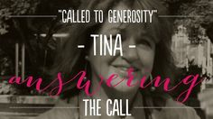 Testimony of Tina Konkin, a powerful story of a mother who answered the call to be generous.