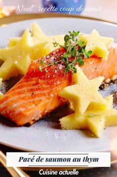 Une recette simple et pourtant on l'adore avec un petit pavé de saumon au thym ! Léger, sain et festif, vous allez adorer cette recette toute simple #cuisineactuelle #repasnoel #dinernoel #saumon #bienmanger #noel2018 #christmas #pavésaumon #dinerléger #recettelegere #mieuxmanger #idéenoel #recettesimple #recetterapide