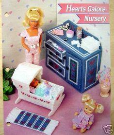 Plastic Canvas Barbie Fashion Doll Pattern NURSERY by SureShopping, $5.95