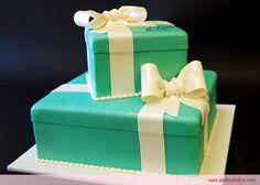 Tiffany blue bridal cake