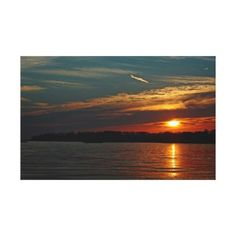 Sunset Over Branford Harbor wrapped canvas Stretched Canvas Prints