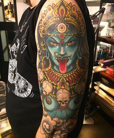 hindu-tattoo on shoulder