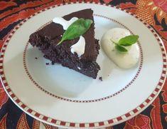Csokoládés brownie bazsalikomos mascarpone öntettel - Balkonada recept