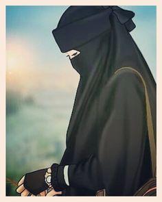 Hijab Anime, Anime Muslim, Muslim Hijab, Niqab Fashion, Street Hijab Fashion, Cute Muslim Couples, Muslim Girls, Beautiful Muslim Women, Beautiful Hijab