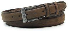 Herren Gürtel braun von designer Acciaio Alessandro | made in Italy