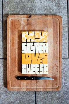 Creative Cheese Typography | #typography
