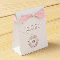 Botanical Floral Bridal Shower favor box