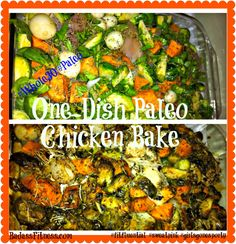 One-Dish Speedy Chicken, Sweet Potatoes & Brussels Bake! Great make-ahead meal!