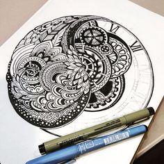 Zentangle.. Abstract design :) #doodle #doodling #zentangle #doodle #doodleart #art #design #abstract #pattern #drawing #handmade #hand #ink #liner #pigmamicron #centropen #sketch #sketchbook #inspiration #graphic