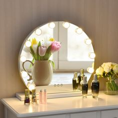 Welcome to Know 12 bulbs Touch Screen Dimming Hollywood Style Makeup Vanity Mirror If you are looking for a mirror ideal for dark environment, this makeup mirror with LED lights fits in exactly with your wishes. Equipped with vanity mirror and LED lights, this product can more clearly reflect your beauty. Three light modes and adjustable brightness design allow you to make up in different environments. Besides, smart touch control is easy to operate. It only takes one click to illuminate your be Hollywood Mirror With Lights, Hollywood Vanity Mirror, Makeup Vanity Mirror, Makeup Mirror With Lights, Mirror 3, Mirror Jewellery Cabinet, Jewelry Mirror, Beautiful Mirrors, Luz Led