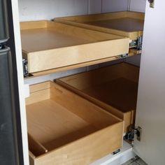 Blind Corner Cabinet Solution - Kitchen Drawer Organizers