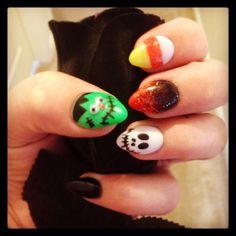 Stiletto Halloween Nails!!
