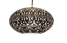 E Kenoz - Silver Plated Brass Moroccan Pendant Light, $199.00 (http://www.ekenoz.com/moroccan-lighting/moroccan-lamps/silver-plated-brass-moroccan-pendant-light/)
