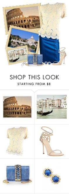 """""""Greetings from Italy"""" by dgia ❤ liked on Polyvore featuring Sergio Rossi, GEDEBE and Kate Spade"""