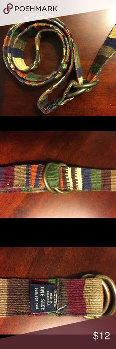Multicolored fabric belt Cotton belt, adjustable, great colors to compliment jeans or khakis Accessories Belts