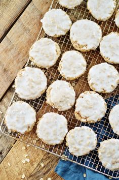 Old Fashioned Iced Oatmeal Cookies by A Teaspoon of Home