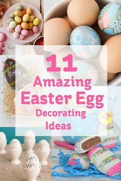 Easter wouldn't be Easter without eggs, and there are some great ideas out there on different ways to decorate them and transform them form drab to fab!