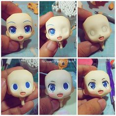 Nendoroid Face-up Ive done, do you want a tutorial for this?? :3  #diy #hestia #nendoroid #faceup