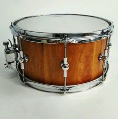 13X7 SPALTED/CURLY CHERRY STAVE SNARE DRUM BY HHG DRUMS #hhgdrums #stave #snaredrum