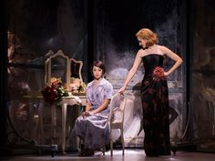 Leanne Cope (Lise) and Jill Paice (Milo) in 'An American in Paris. Photo by Angela Sterling. Theatre Shows, Musical Theatre, Metro Theatre, Theater, An American In Paris, Broadway Nyc, Stage Design, Set Design, Paris Shows