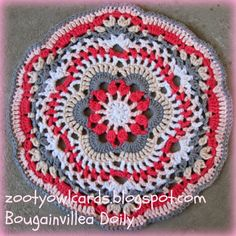 Zooty Owl's Crafty Blog: Bougainvillea Doily Pattern