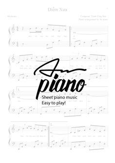 Diễm Xưa - Trịnh Công Sơn - Piano sheet music Video tutorial: https://youtu.be/E5JzD4cSPuk