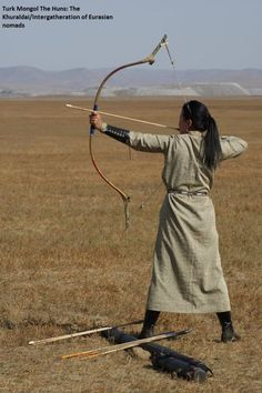 A woman has strength. Mongolia