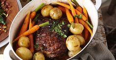 Slow-cooked beef pot roast with thyme gremolata main image Slow Cook Roast, Beef Pot Roast, Slow Cooked Beef, Beef Ribs, Slow Cooker Recipes, Beef Recipes, Savoury Recipes, Gremolata Recipe, Food Tasting