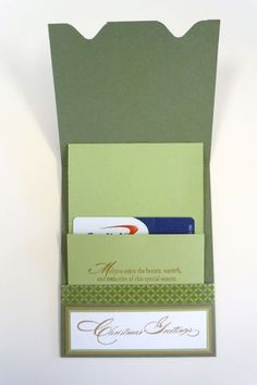 Envelope Maker Gift Card Holder