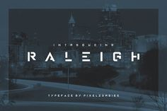 Raleigh - Premium Font + Alternate by Pixel Zombies on @creativemarket
