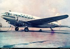 Curtiss C-46 Commando, Varig Airlines, Congonhas Airport, Sao Paulo, Brazil. Circa 1966.