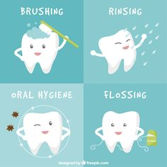 Food can be dislodged by having a floss carefully  and brush