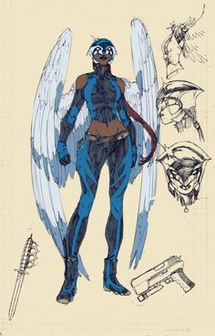 New design for Hawkgirl on Earth 2 (New DC 52)