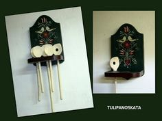 Bútorfestés, festett bútorok: április 2012 Folk Art, Triangle, Hair Accessories, Traditional, Projects, Gifts, Painting, Beauty, Shelf