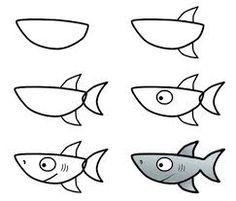 Resultado de imagen de dibujos de tiburon