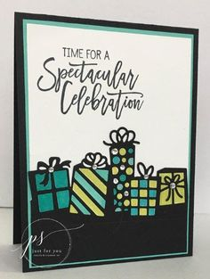 Birthday card using Birthday Cheer Bundle using Stampin' Up! products  Margie's Crafts