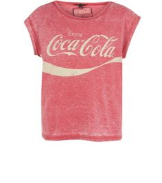 Red Coca-Cola Burnout T-Shirt New Look.  Not a huge fan of message tee shirts but that one is cool,  I think