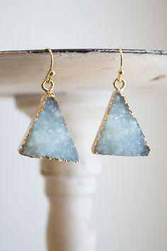 Rock Solid Triangle Earrings