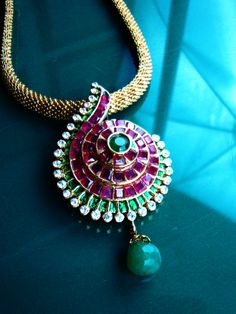 hand made ruby pendent in gold