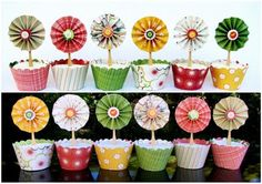 brico fleurs + cupcake